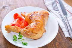 Fried chicken leg royalty free stock photography