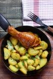 Fried chicken leg Stock Photography