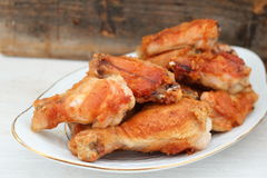 Fried chicken legs. Deep fried chicken legs and drumsticks Royalty Free Stock Photos