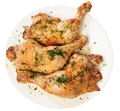 Fried chicken legs with a dill from up Royalty Free Stock Images