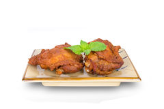 Fried chicken legs isolated on white,clipping path Stock Photography