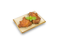 Fried chicken legs isolated on white,clipping path Stock Image