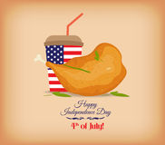 Fried chicken legs, for a July 4th picnic Stock Photo
