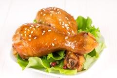 Fried chicken legs Stock Photos