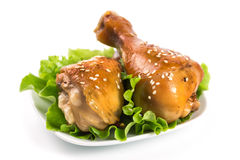 Fried chicken legs Royalty Free Stock Images