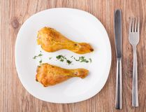 Fried chicken legs Stock Photos