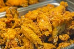 Fried Chicken Legs Wings Fotografia de Stock
