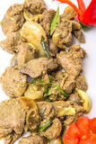 Fried Chicken Liver Dish profond XII Photos libres de droits