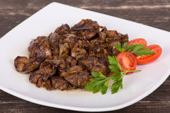 Fried Chicken Livers Royalty Free Stock Images