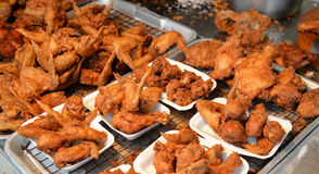 Fried chicken in Market Royalty Free Stock Images