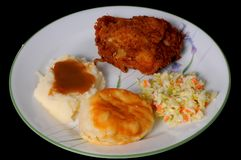Fried Chicken And Mashed Potatoes Stock Images
