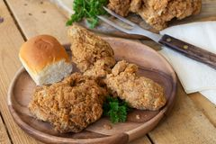 Fried Chicken Meal Royalty Free Stock Images