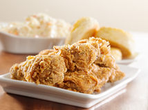 Fried chicken meal horizontal Stock Image