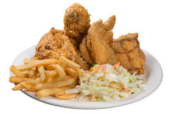 Fried chicken meal Royalty Free Stock Photo