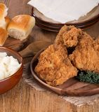 Fried Chicken Meal Royalty Free Stock Image