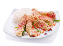 Fried chicken meat Royalty Free Stock Photos
