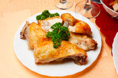 Fried chicken meat Stock Photos