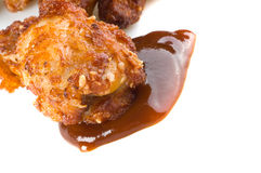 Fried chicken meat Stock Images