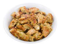 Fried Chicken Meat On Plate Stock Image