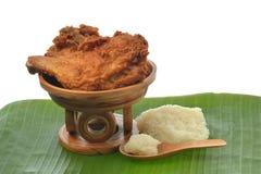 Fried Chicken mit klebrigem Reis Lizenzfreies Stockfoto