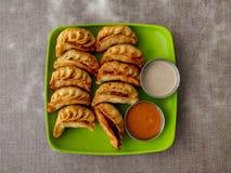 Fried Chicken Momo fotografering för bildbyråer