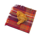 Fried chicken on napkin Stock Photos