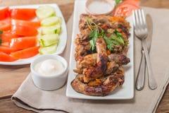 Fried Chicken Necks Stock Photo