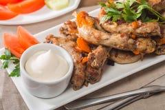 Fried Chicken Necks Stock Photography