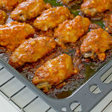 Fried Chicken New Orleans.sweet and spicy on tray ready to serve Royalty Free Stock Image