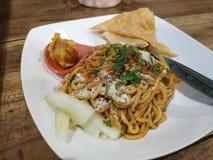 Fried Chicken Noodle With Dimsum fotos de stock