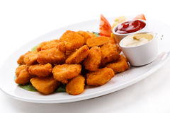 Fried chicken nuggets Royalty Free Stock Image