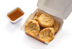 Fried chicken nuggets Stock Image