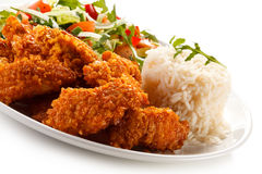 Fried chicken nuggets Stock Photography