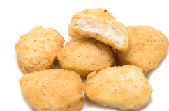 Fried chicken nuggets Royalty Free Stock Photo