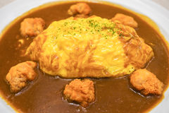 Fried chicken omelet curry Royalty Free Stock Photo