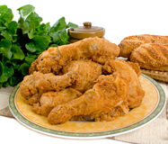 Fried Chicken Pieces Stock Photography