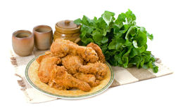 Fried Chicken Pieces Royalty Free Stock Images