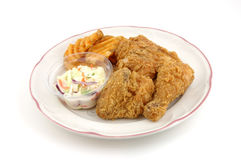 Fried chicken plate Stock Images