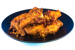 Fried chicken on plate Royalty Free Stock Images