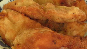 Fried chicken stock footage