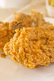 Fried chicken on a plate Stock Images