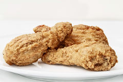 Fried Chicken on a Plate Stock Photography
