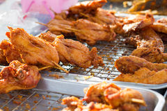 Fried chicken and pork Royalty Free Stock Photography