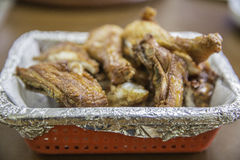 Fried chicken. In red box Royalty Free Stock Images