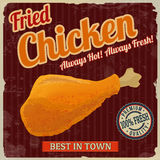Fried chicken retro poster Stock Photo