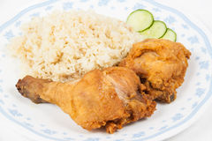 Fried chicken rice set Stock Photography