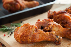 Fried chicken with rosemary and pepper Stock Photo