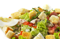 Fried chicken salad Royalty Free Stock Images