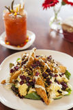 Fried chicken salad with bloody mary Stock Photos