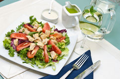 Fried chicken salad Stock Photos